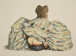 lady on pot